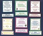 6 FIRST DAY OF SCHOOL Card Craft Verse Toppers W/WO Matching Sentiment Banners