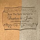 Save The Date - Laser Engraved & Cut Acrylic - Personalised Option 1