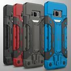 For Samsung Galaxy S8 Card Case Hybrid Armor Stand Slim Phone Cover