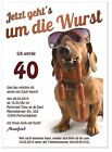 Geburtstagseinladungen lustig originell Text Hund  Feier Party 40. 50. 60. 30 20