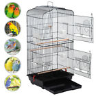 New Bird Cage Play Top Strong Iron Ladder Parrot Cockatoo Parakeet Pet Supply