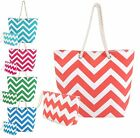 Swan Comfort Chevron Tote Large Beach Pool Hand Bag Set with Rope Handles