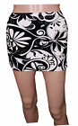 NEW LADIES WOMENS FLOCKED PRINTED FITTED  MICRO MINI SKIRT SIZE 16