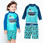 "Vaenait baby Toddler UPF+50 Kids Boy Rashguard  Swimsuit Set ""Ocean Boat"" 2-7T"