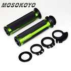 "CNC Aluminum Rubber Gel Hand Grips + 3Cams For 7/8"" Handle Bar Dirt Bike Bicycle"