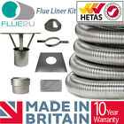 Flue Liner Kit Installation Multifuel Flexible for Wood Burning Stove 316 grade