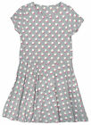 Girls Polka Spot Print Short Sleeve Grey Dress 5-6 Years SALE