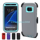Hybrid Rugged Defender Case + Belt Clip Holster Cover for Samsung Galaxy S7 Edge