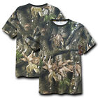 Hybricam Camouflage Camo Army Hunting Mossy Military T-Shirt T-Shirts Shirt