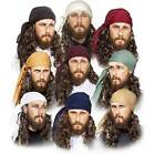 Adult Pirate Costume Bandanna Headscarf Men Women Red White Black Many Colors!