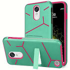 For LG K20 Plus K20 V Harmony Grace Helix Hybrid Dual Layer Kickstand Cover Case <br/> LG K20 Plus K20 V LG Harmony LG Grace 4G