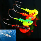 Lead Round Jig Head Fishing Lures Bait Hook Fish Tackle 5g/10g/14g Random ColorE