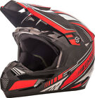 Gmax MX46 Uncle Off Road Motorcycle Helmet Black/Red Adult All Sizes