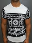 A.F.E.X D.G R&R STAR Casual Bandana Pattern Slim Fit Muscle Fitted Top T-Shirt