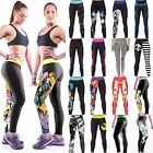 Women Running Sports Leggings Ladies Exercise Printed Pants Stretch Trousers