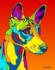 Made in USA Multi-Color Basenji Dog Breed Matted Print Wall Decor