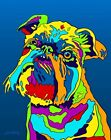 Made in USA Multi-Color Brussels Griffon Dog Breed Matted Print Wall Decor