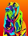 Made in USA Multi-Color bloodhound Dog Breed Matted Print Wall Decor