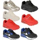 Boys Kids Air Velcro Lace Up Infants Youth School Bubble Trainers Shoes