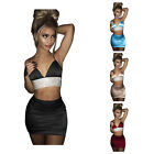Spaghetti Summer Holiday Leisure Beach Dress Two Piece Crop Top Midi Skirt Set