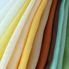 "Plain Woven Voile Net Curtain Fabric  - 150CM / 58"" Wide - Sold By the Metre"