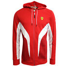 Puma SF Scuderia Ferrari Track Full Zip Red Mens Hooded Jacket 761603 02 EE23