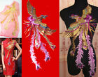 Large Embroidered Colorful Peacock Appliques Motif Sewing Lace Trim Craft KT19