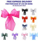 ORGANZA SASHES Chair Cover Decor Fuller Bow Anniversary Wider Wedding Party UK