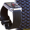 Apple Watch Band 42mm Black TIRE TREAD Sport iWatch Band / Silicone Rubber Stra
