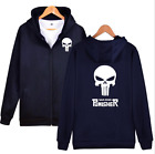 The Punisher Skull Men Women Hoodie Zipper Coat Jacket Sweater Casual Sweatshirt