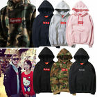 2017 HOT! Mens SUPREME Hip Hop Hoodie Embroidered Cotton Sweater Men's Hoodies