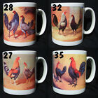 OLD ENGLISH GAME POULTRY MUGS Crele. Blue Dun, Grey, Red Dun
