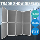 Folding Display Board 8 Panels Trade Show Screen Conferences Presentation HOT
