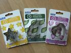 PME  SHAPES ,HEART, STAR, LEAF CUTTERS SET OF 3. SUGARCRAFT. CAKE DECORATING