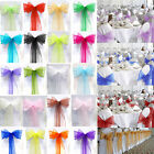 10-100pcs Organza Sashes Chair Cover Wedding For Party Bows 15cm * 275cm New