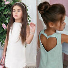 Kids Baby Girls Flower Princess Tulle Dress Wedding Bridesmaid Dresses Age2-7