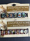 Inspiration Stretchy Bracelet/Wristband Wood or Hematite ~ Jesus Saints