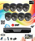 TMB 8 Channel DVR 1080P HD 3MP Outdoor IR Home Security CCTV Camera System Kit
