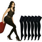 Pantyhose High Support Tights Kamila XL Black Pantyhose Stocking Korean Made 3pc