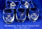 Army, Navy & RAF Military Presentation and Gift Box Twin Whisky Glasses