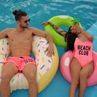 Couple Men Beach Short Women One-Piece Swimsuit Swimwear monokini bikini