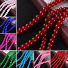 DIY Smooth Glass Loose Spacer Beads Jade Paint Round Bead 4/6/8MM Wholesale Lot