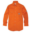 Men's Rasco FR Orange Flame Resistant 7.5OZ Work Shirt OFR752