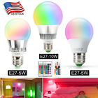 3W 5W 10W E27 LED RGB Light Bulb 16 Color Changing Magic Lamp + Remote Control