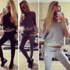 New 2Pcs Women Tracksuit Hoodies Sweatshirt Pants Sets Sport Wear Casual Suit