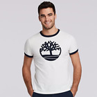 Timberland Men's Short Sleeve Tree Logo Ringer T-Shirt Style White Size