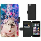 Phone Card Slot PU Leather Wallet Case For Apple iPhone english bulldog unique i
