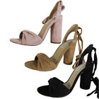Steve Madden Womens Clary High Heel Tie Up Sandal Shoes