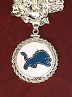 STERLING SILVER PENDANT W/ HAND PAINTED NFL DETROIT LIONS SETTING - JEWELRY on eBay