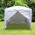 2x2m Pop Up Gazebo Marquee Outdoor Garden Party Tent Canopy 4 Side Panels New